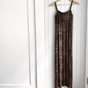 Lane Bryant Cheetah Print Maxi Dress